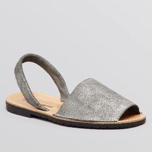 Jeffrey Campbell Ibiza Metallic Slingback Sandals